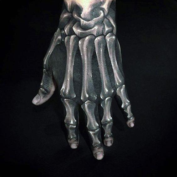 dans la main squelette 3