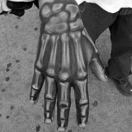 dans la main squelette 1