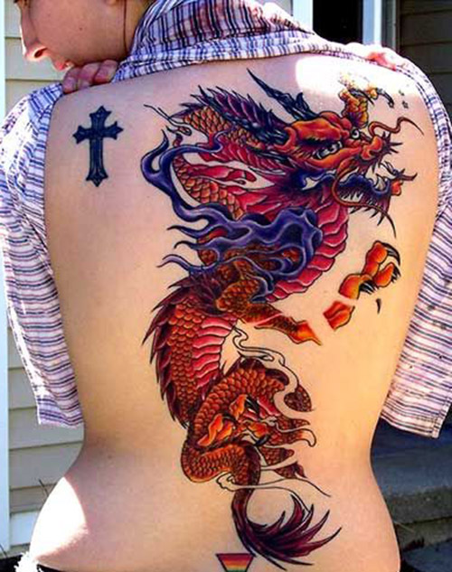 tatouages de la dame dragon 1