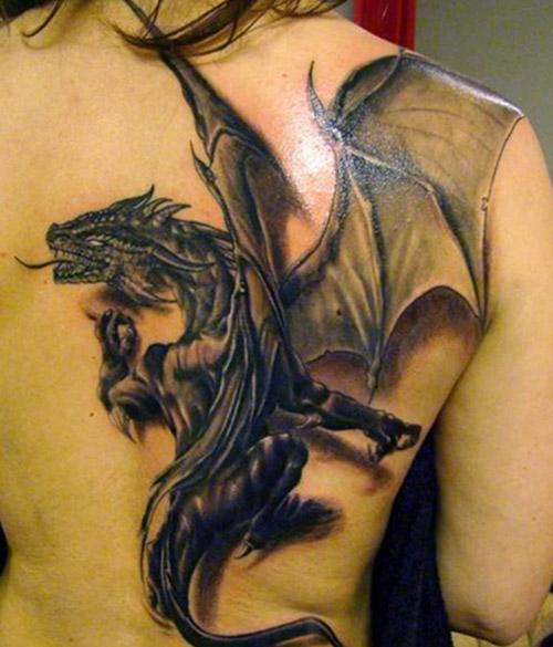 tatouages dragons dos tatouage 6