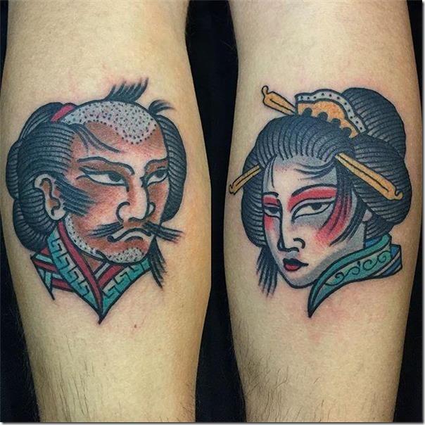 samouraïs et geisha