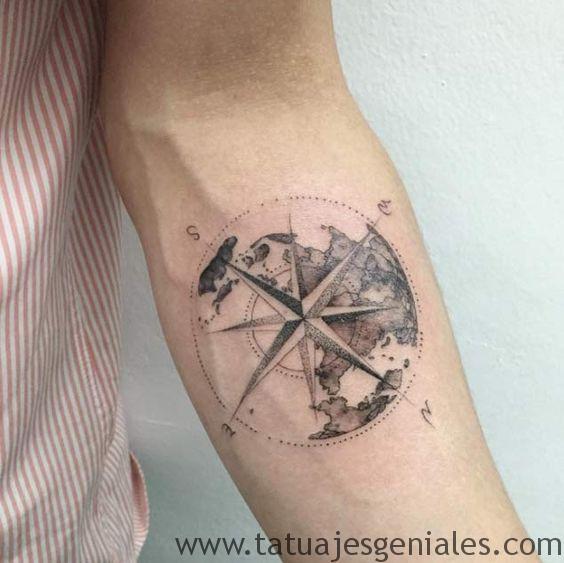 bras de tatouage étoile nautique 1