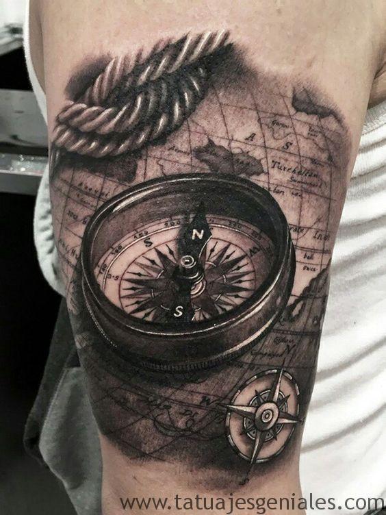 tatouages boussole hommes 1