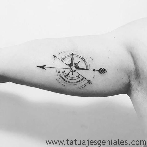 boussole tatouages hommes 7