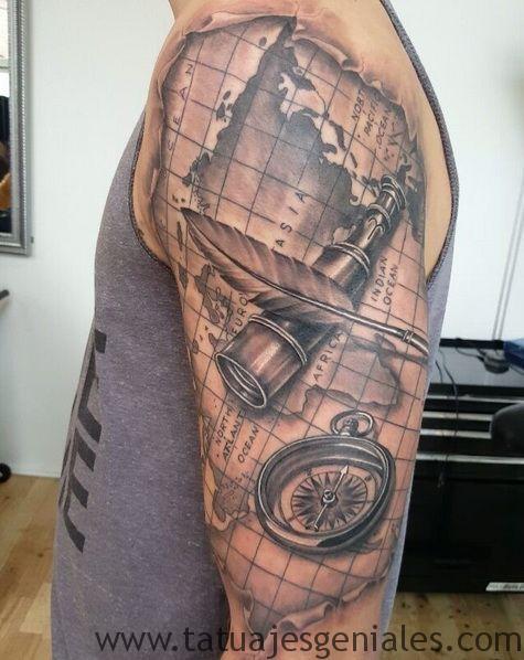 tatouages boussole hommes 4