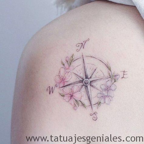 tatouages rose femme nautique 4