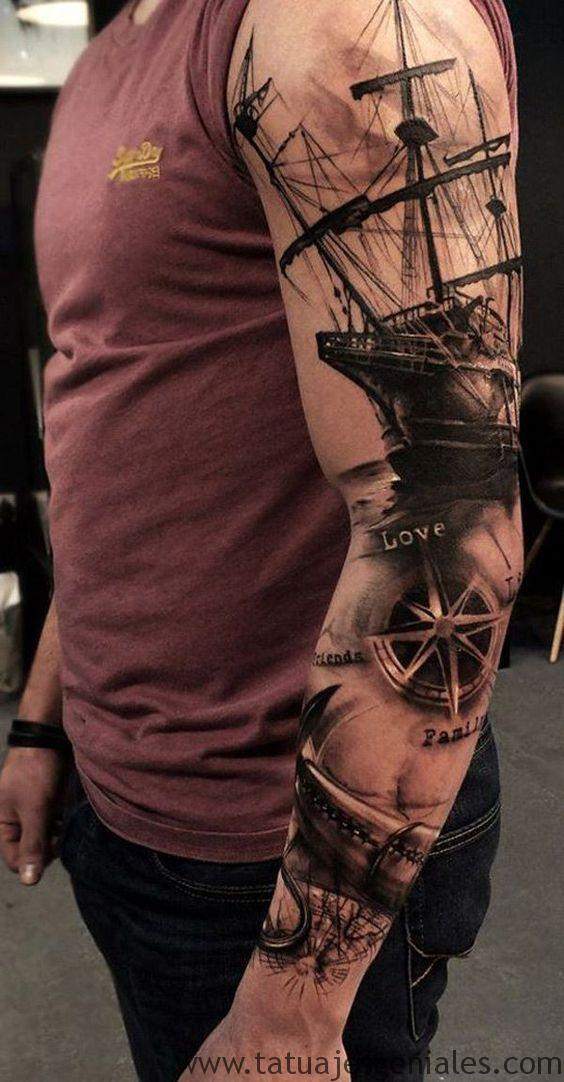 bras de tatouage étoile nautique 6