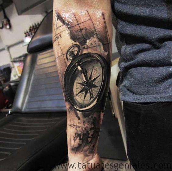 bras de tatouage étoile nautique 3