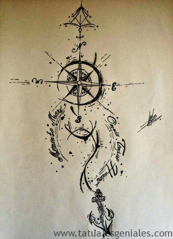 dessins de tatouage compas 3