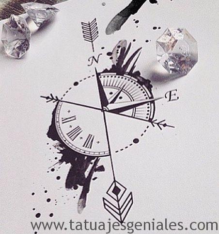 dessins de tatouage compas 5