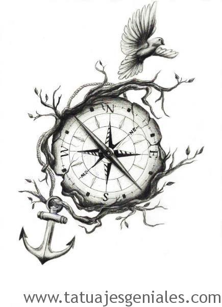 dessins de tatouage compas 7