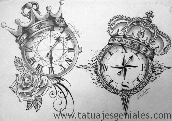 dessins de tatouage de boussole 1