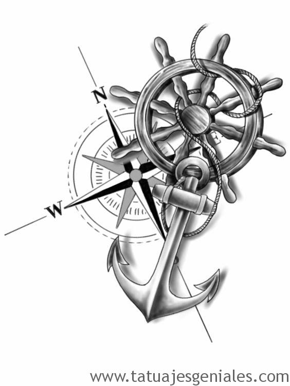 conceptions de tatouage de boussole 8