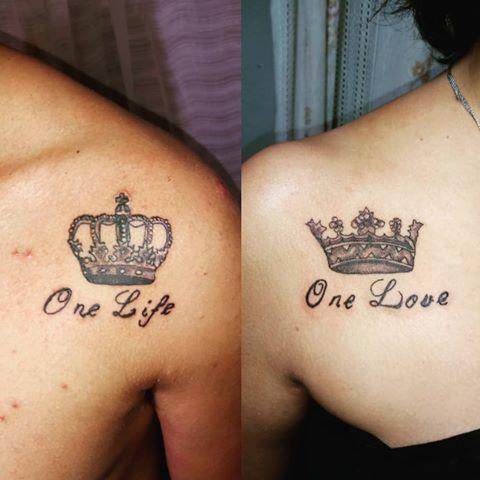 tatouages pour les couples sur la clavicule 2