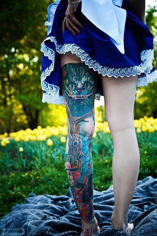 tatouage jambes femmes 2