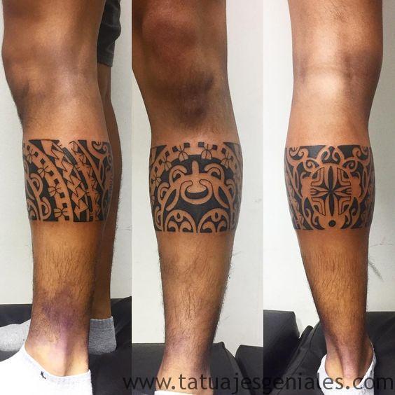 tatouages tribaux sur les jambes 1