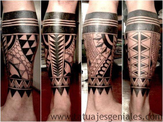 tatouages de jambe tribale 3