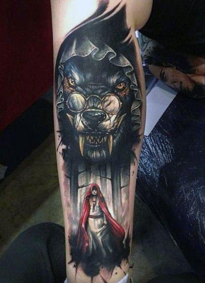 tatouages d'un loup 1