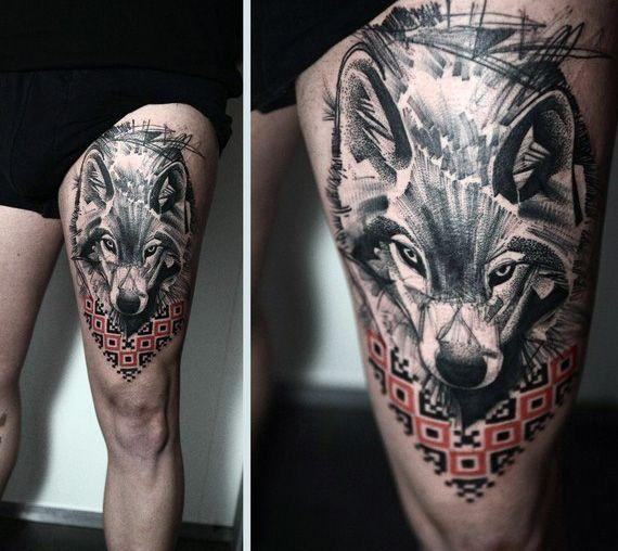 tatouages d'un loup 3