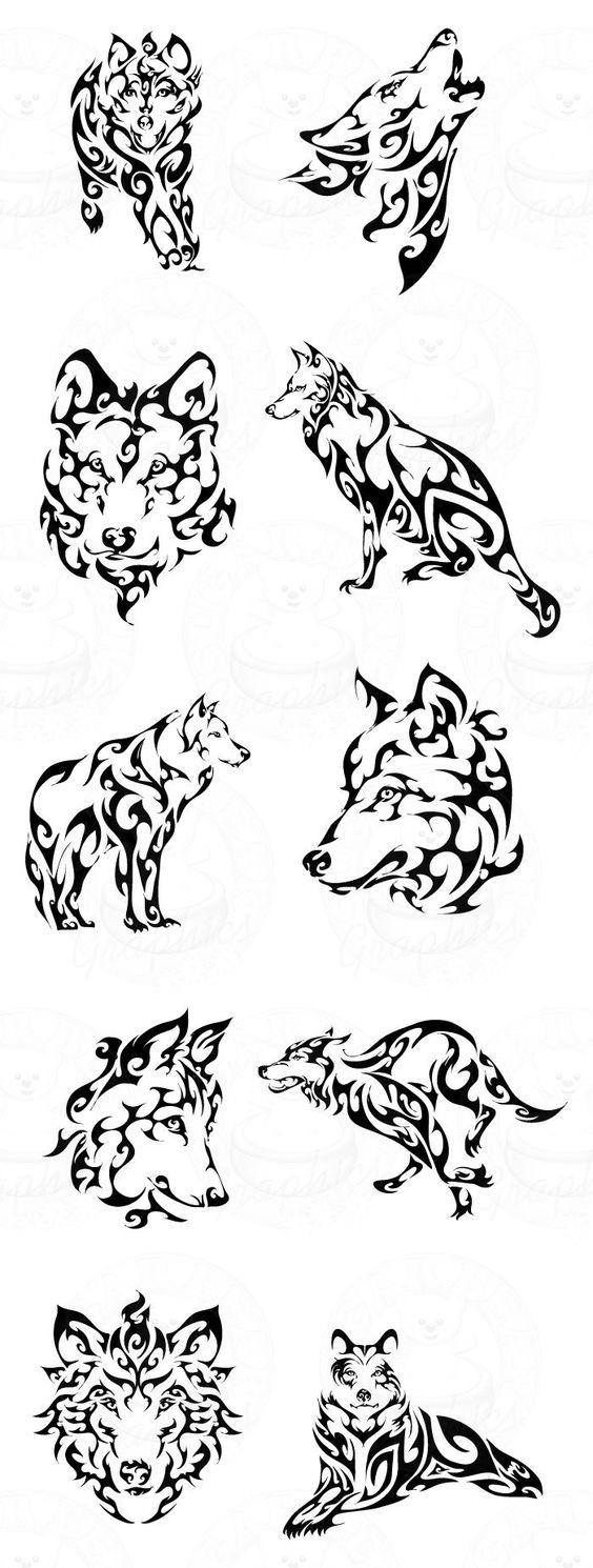 Tatouages de loup tribal 5