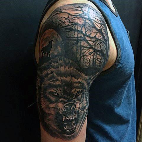 tatouage de loup signifiant 1