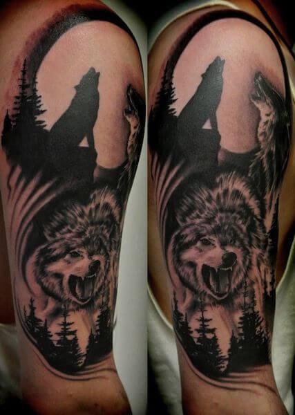 tauajes loups lune 1