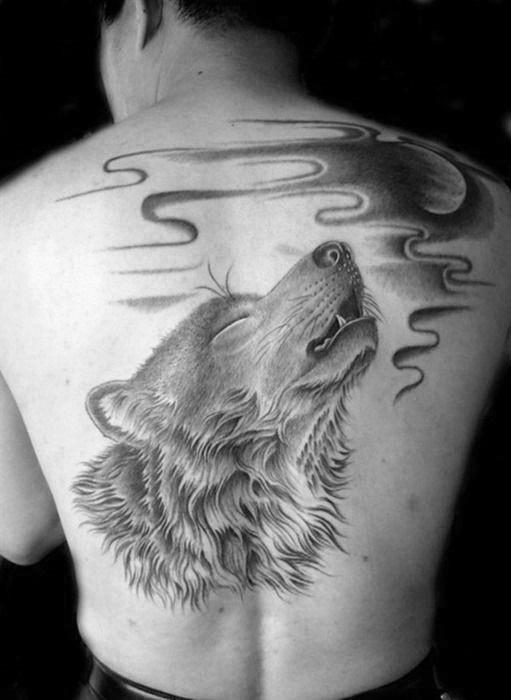 tatouage de loup signifiant 3