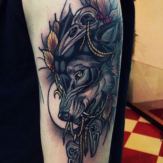 signification du tatouage de loup