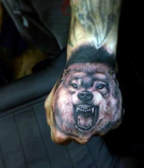 Tatouages de loup féroce signifiant 4