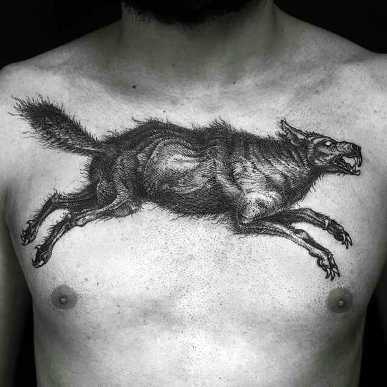 Signification des tatouages de loups sauvages 4