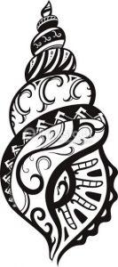 tatouage de coquillages maorie 133x300