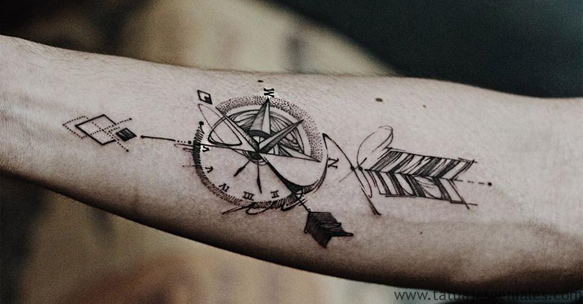 couverture tatouages compas