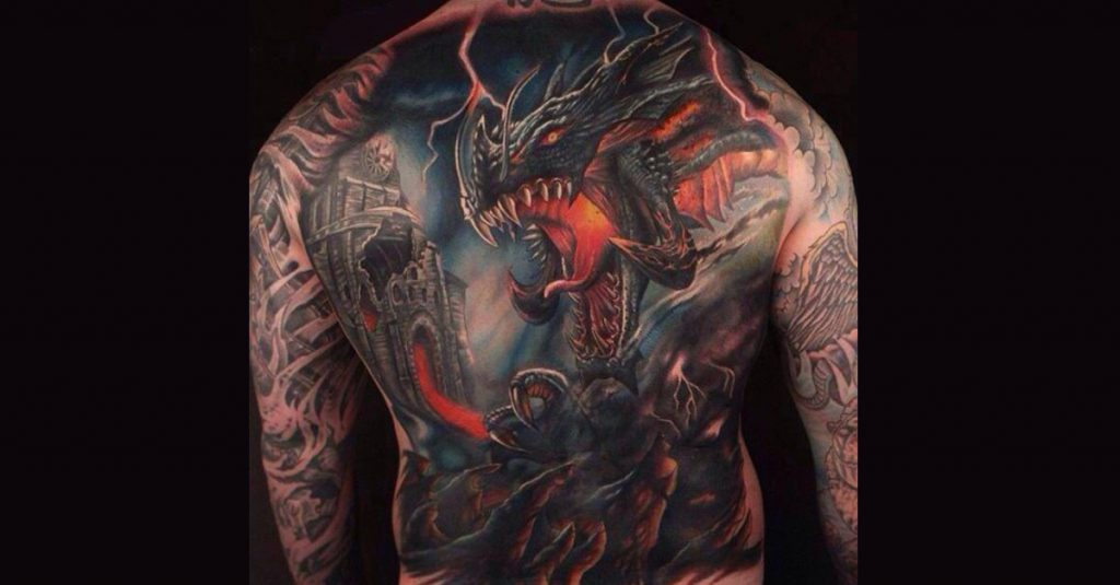 couverture tatouage dragons 1024x535