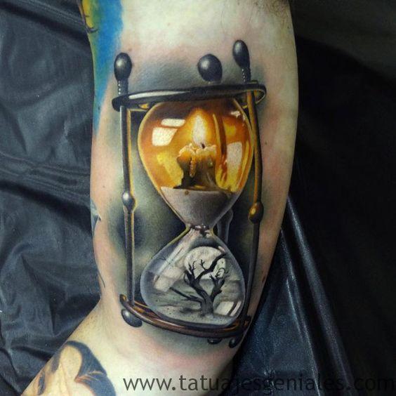 tatouage de sablier 4