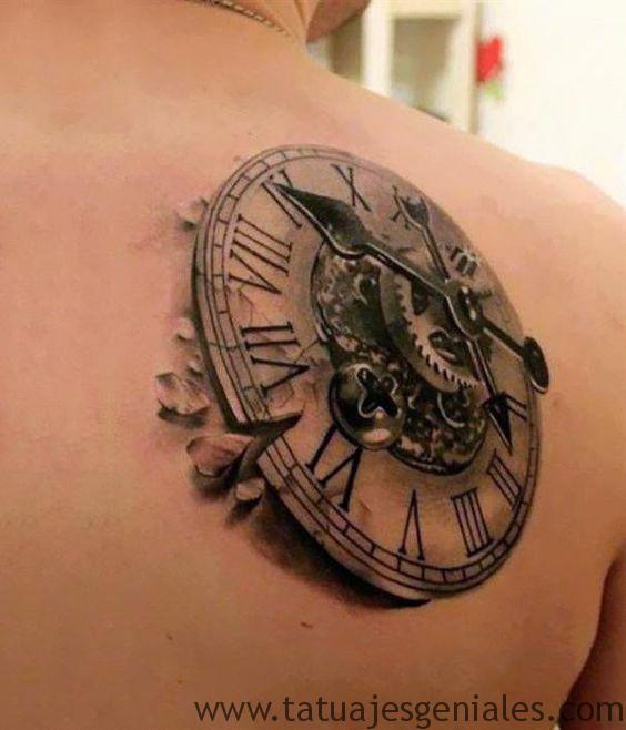 tatouage d'horloge antique 1