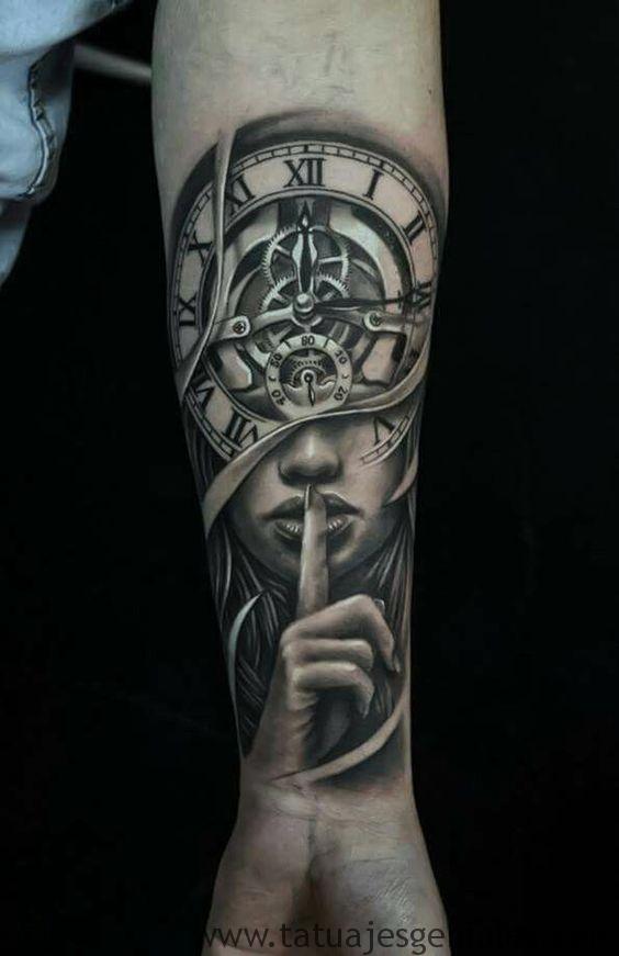 tatouage d'horloge antique 3
