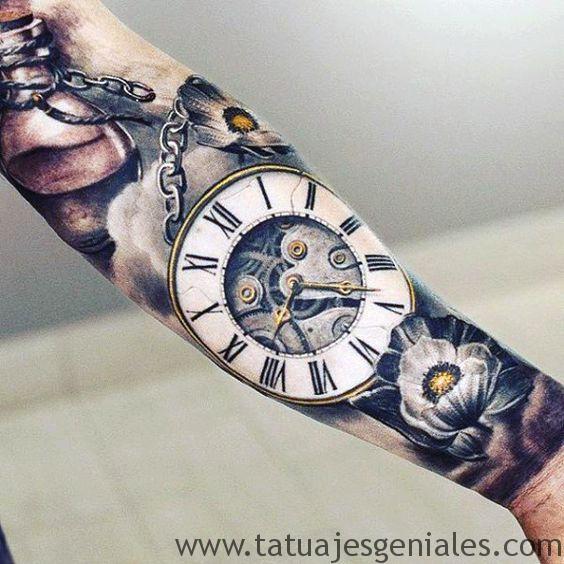 tatouage d'horloge antique 4