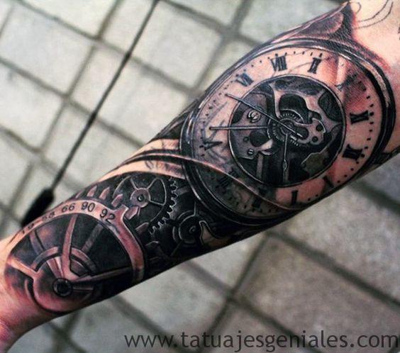 tatouage d'horloge antique 5