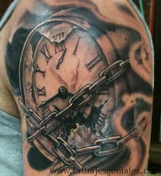 montre de tatouage sur le bras 1