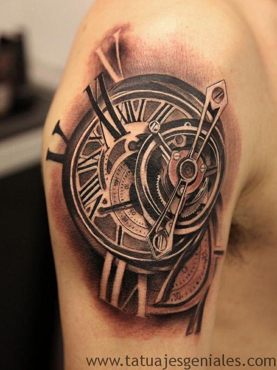 tatouage d'horloge antique 6