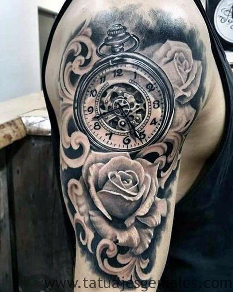 montre de tatouage sur le bras 4