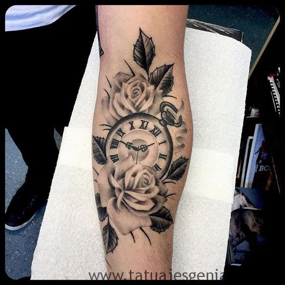 montre de poche tatouage 3