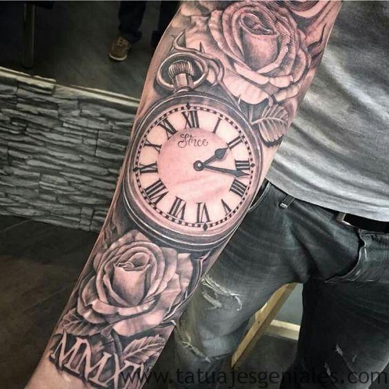 montre de poche tatouage 2