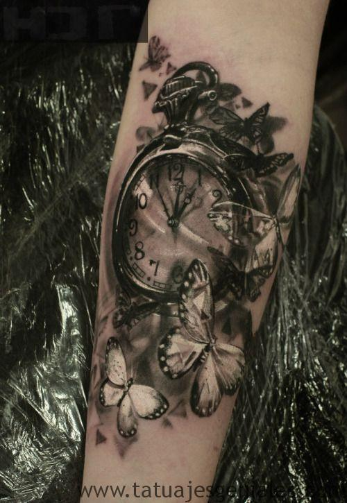 montre de poche tatouage 6