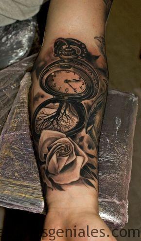 montre de poche tatouage 4