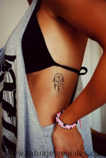 tatouage dreamcatcher ribs 4