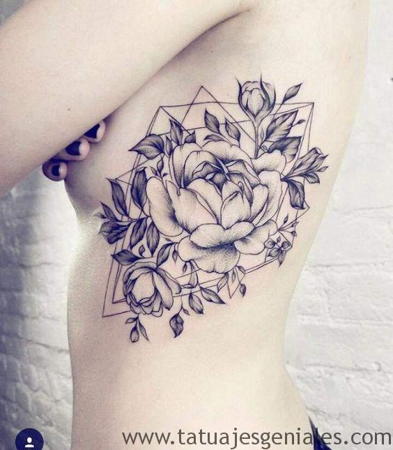 tatouage roses fleurs 6