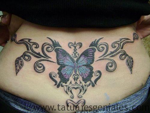 hanches de papillon tatouages 2