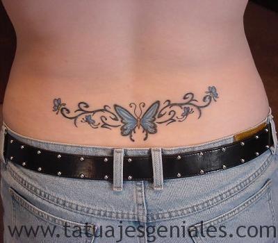 papillons hanches tatouages 3