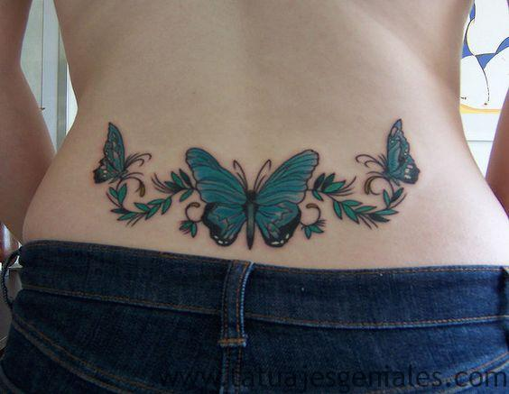 hanches de papillon tatouages 1
